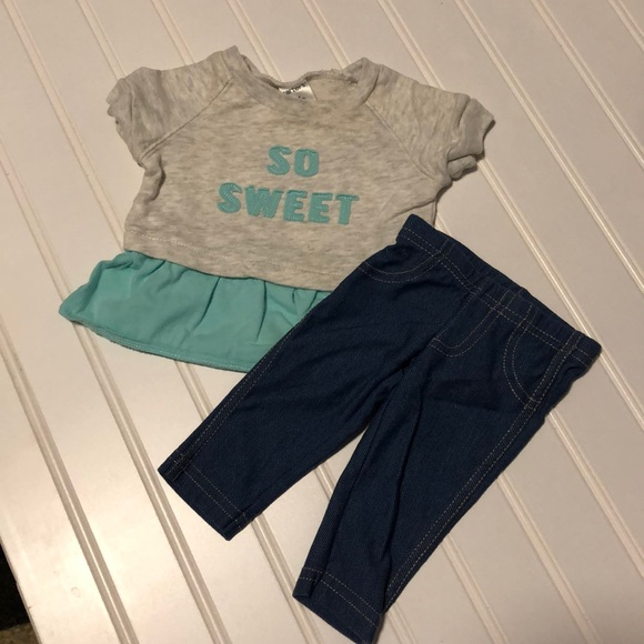 Carter's Other - Carters Girl Newborn Pants and So Sweet Top 2Piece